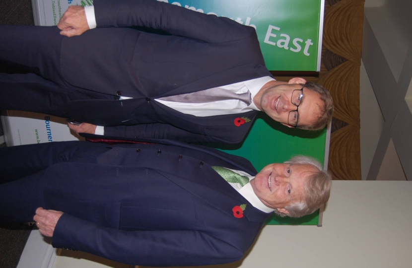 Tobias Ellwood MP (left) Lord Michael Dobbs (right)